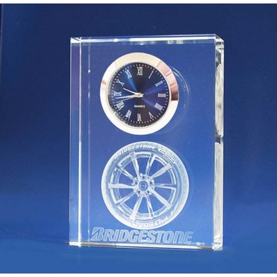 Picture of 3D Crystal Award - Clock