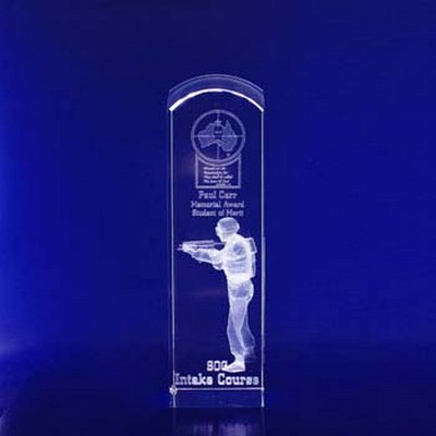 Picture of 3D Crystal Award - Rectangle Dome