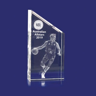 Picture of 3D Crystal Award - Rectangle Slope