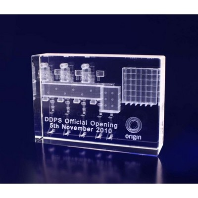 Picture of 3D Crystal Award - Rectangle Thin