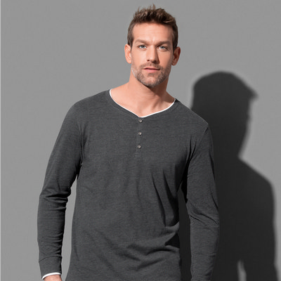Picture of Stedman Collection Mens Luke Henley Long