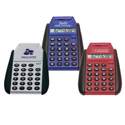 Picture of Fliptop Pocket Calculator Blue, Red, Gre