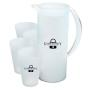 Frosted Jug and 4 Cups - Blue or White