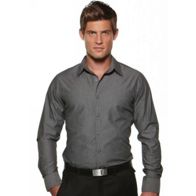 Picture of Model Stripe - Semi Fit Long Sleeve Business Shirt