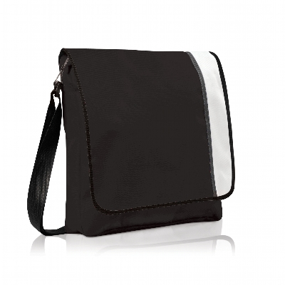 Picture of Spectrum Basic Flap Satchel Black/White