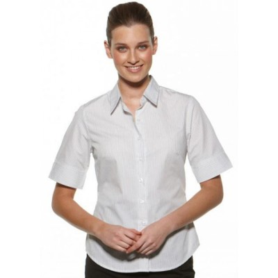 Picture of Model Stripe - Semi Fit Short Sleeve Business Shirt