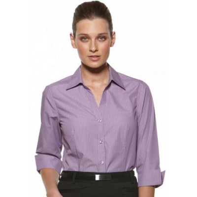 Picture of Model Stripe - Fitted 3/4 Sleeve Business Shirt