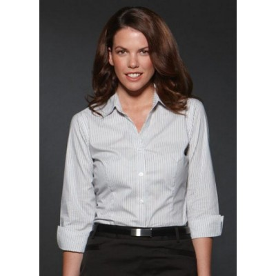 Picture of Argento - Fitted 3/4 Sleeve Business Shirt