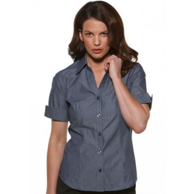 Picture of Model Stripe - Fitted Short Sleeve Business Shirt