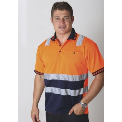 Picture of Hi Vi Micromesh S/S Polo With Reflective Tape