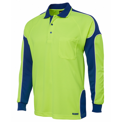 Picture of JBs Hi Vis L/S Arm Panel Polo