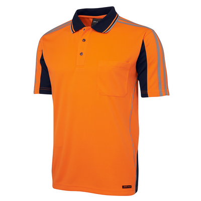 Picture of JBs Hi Vis S/S Arm Tape Polo