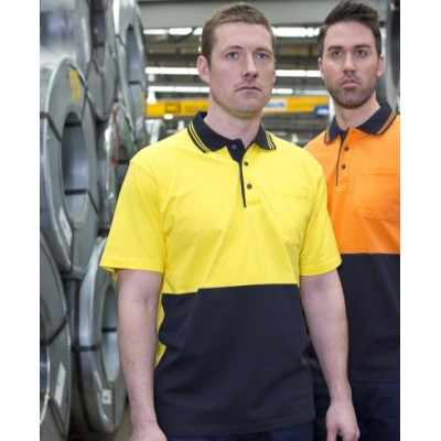 Picture of JBs Hi Vis S/S Cotton Polo
