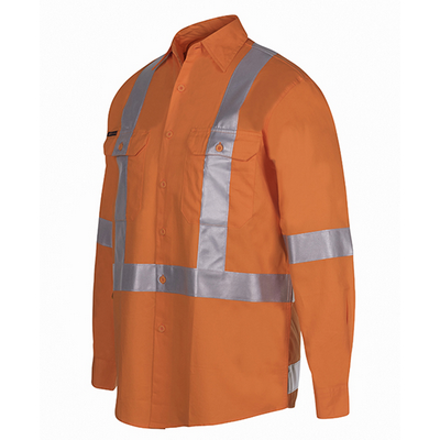 Picture of JBs Hi Vis (D+N) L/S 150G Cross Back Tape Shirt