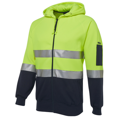 Picture of JBs Hi Vis (D+N) Full Zip Fleecy Hoodie