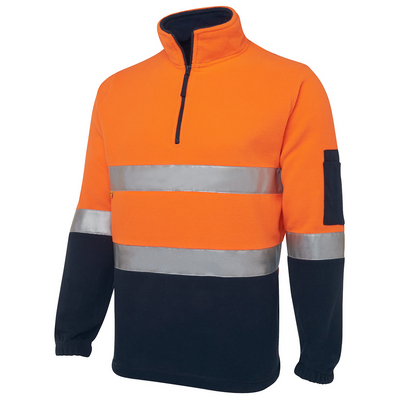 Picture of JBs Hi Vis (D+N) 1/2 Zip Polar Fleece