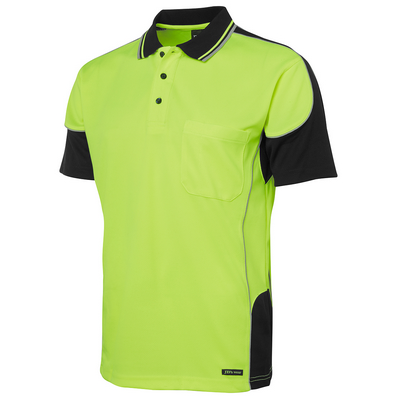 Picture of JBs Hi Vis Contrast Piping Polo