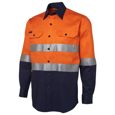 Picture of JBs Hi Vis (D+N) L/S 190G Shirt