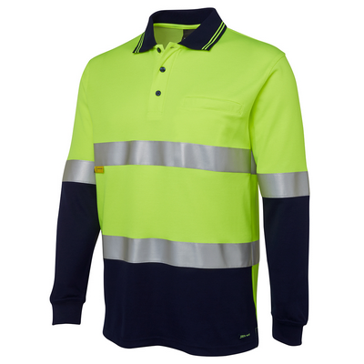 Picture of JBs Hi Vis L/S (D+N) Cotton Back Polo