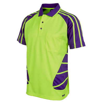 Picture of JBs Hi Vis S/S Spider Polo