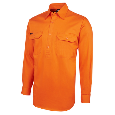 Picture of JBs Hi Vis L/S 190G Front Close Shirt