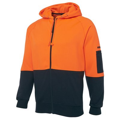 Picture of JBs Hi Vis Full Zip Fleecy Hoodie