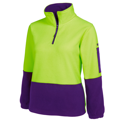 Picture of JBs Hi Vis Ladies 1/2 Zip Polar