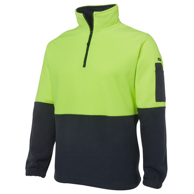 Picture of JBs Hi Vis 1/2 Zip Polar Fleece