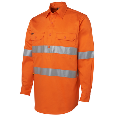 Picture of JBs Hi Vis (D+N) Close Front L/S Shirt