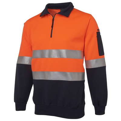 Picture of JBs Hi Vis (D+N) 1/2 Zip Fleecy Sweat