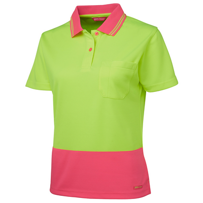 Picture of JBs Ladies Hi Vis S/S Comfort Polo