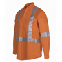 JBs Hi Vis (D+N) L/S 150G Cross Back Tape Shirt