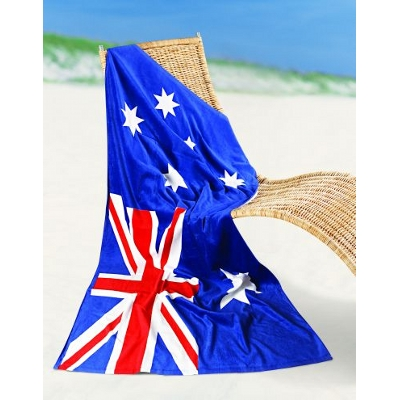 Picture of Aussie Flag Printed Beach towel
