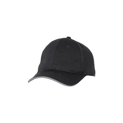 Picture of Grey Trim Cool Vent Black Baseball Cap