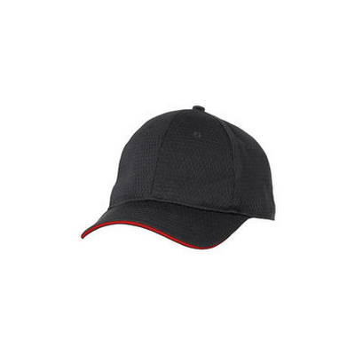 Picture of Red Trim Cool Vent Black Baseball Cap