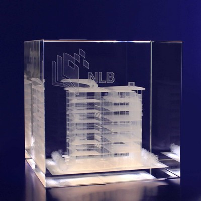 Picture of 3D Crystal Cube award / trophy
