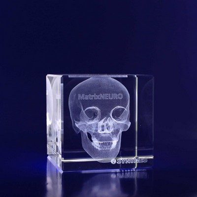 Picture of 3D Crystal Cube award / paper weight