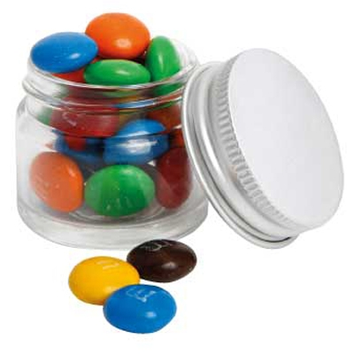 Picture of Mini Glass Jar with M&M's