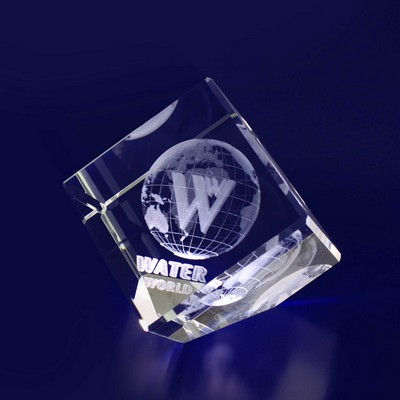 Picture of 3D Crystal Diamond award / paperweight