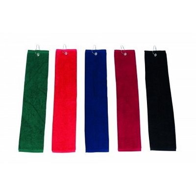 Picture of ELITE small Golf Towel with hook and grommet.