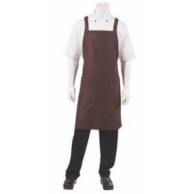 Picture of Cross Over Chocolate Bib Apron