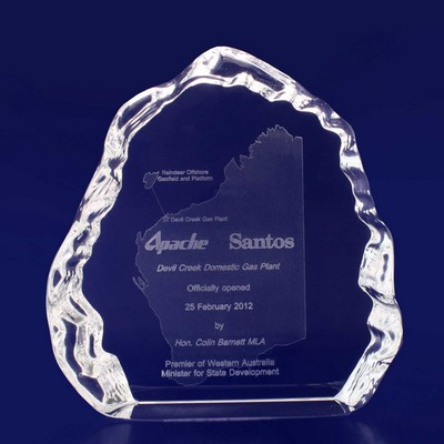 Picture of 3D Crystal Ice award / trophy