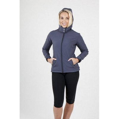 Picture of Ladies/Junior Hooded Jacket - Tempest Soft Shell - J483LD