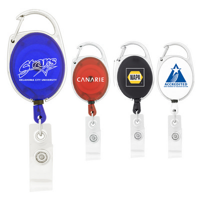Picture of Retractable Badge Holder with Carabiner Clip
