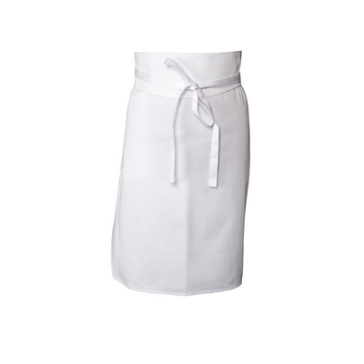 Picture of White Tapered Apron No Pocket