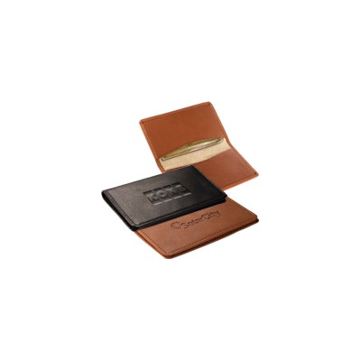 Picture of Alpine Card Case (sueded full-grain leather)