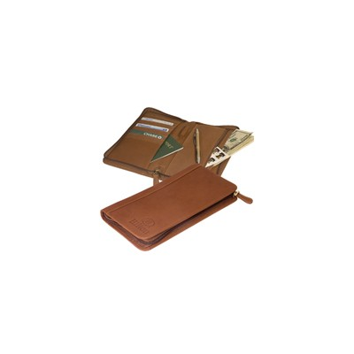Picture of Hoboken Zip-Around Document Holder (sueded full-grain leather)