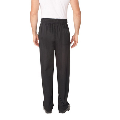 Picture of Black Baggy Chef Pants w/ Zipper Fly