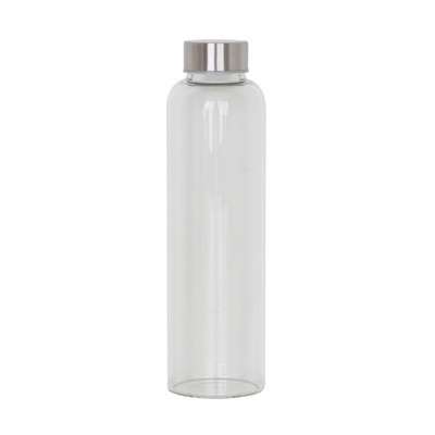 Picture of 550ml Glass Drink Bottle with Stainless steel Lid