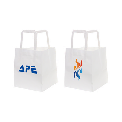 Picture of Flat Handle Kraft Paper Bag(150x170x150mm)